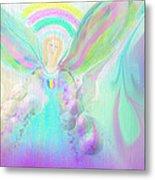 Angel Working Metal Print by Rosana Ortiz