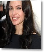 Angelina Jolie At Arrivals For Dvd Metal Print