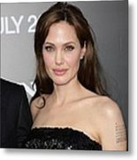 Angelina Jolie At Arrivals For Salt Metal Print