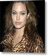 Angelina Jolie At Sharkspeare In The Metal Print