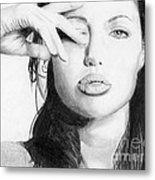Angelina Jolie Pencil Art Metal Print