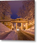Angels Bridge In Winter Metal Print by Jaak Nilson