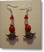 Angels In Red Earrings Metal Print by Jenna Green