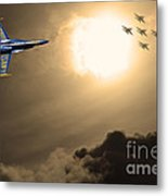 Angels In The Sky . Partial Sepia Metal Print