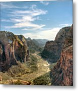 Angels Landing - Zion National Park Metal Print by Bryant Scannell
