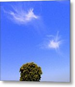Angels Watching Over Tree Metal Print