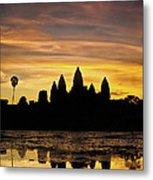 Angkor Wat At Sunrise II Metal Print