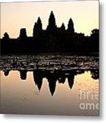 Angkor Wat At Sunrise Metal Print