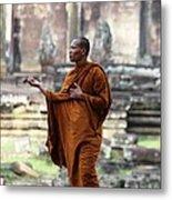 Angkor Wat Monk Metal Print