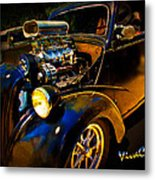 Anglia Dragster And A Duce Staged For A Grudge Run  Metal Print
