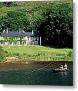 Angling, Delphi Lodge, Co Mayo, Ireland Metal Print