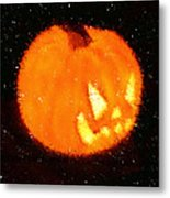 Angry Pumpkin Metal Print