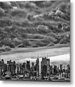 Angry Skies Over Nyc Metal Print