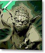 Angry Yoda Metal Print