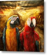 Animal - Parrot - Parrot-dise Metal Print