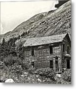 Animas Forks Ink Outline Metal Print by Melany Sarafis