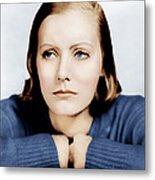 Anna Christie, Greta Garbo, Portrait Metal Print