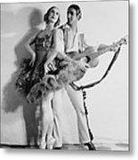 Anna Pavlova 1885-1931 Dancing Partner Metal Print