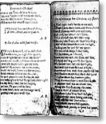 Anne Bradstreet Poems Metal Print