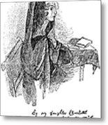 Anne Bront� (1820-1849) Metal Print by Granger