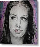 Anne Hathaway Metal Print
