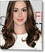 Anne Hathaway At Arrivals For Afi Fest Metal Print