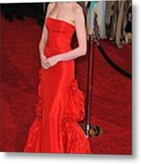 Anne Hathaway Wearing Valentino Dress Metal Print