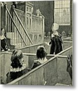 Anne Hutchinson, Charged With Heresy Metal Print by Everett