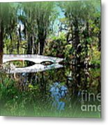 Another White Bridge In Magnolia Gardens Charleston Sc II Metal Print