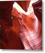 Antelope Slot Canyon  Light From Above Metal Print