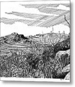 Anthony Gap New Mexico Texas Metal Print by Jack Pumphrey