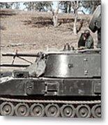 Anti-aircraft Guns Mounted On An M109 Metal Print