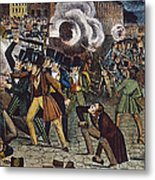 Anti-catholic Mob, 1844 Metal Print
