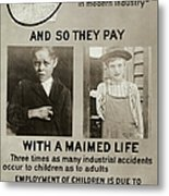 Anti-child Labor Poster Metal Print