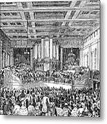 Anti-slavery Meeting, 1842 Metal Print