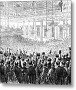 Anti-slavery Meeting, 1863 Metal Print