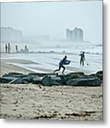 Anticipation For Surf Metal Print