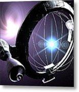 Antimatter Drive Spaceship Metal Print