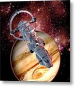 Antimatter Drive Spaceship Metal Print by Victor Habbick Visions