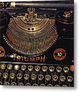 Antiquated Typewriter Metal Print