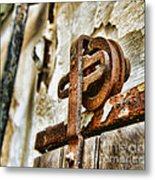 Antique - Door Rail - Rusty Metal Print