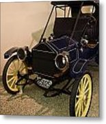 Antique Automobile With Yellow Spoke Wheels Metal Print