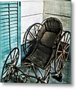 Antique Baby Carriage Metal Print