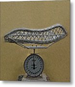 Antique Baby Scale Metal Print