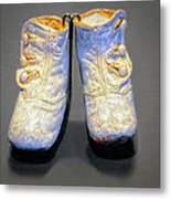Antique Baby Shoes Metal Print
