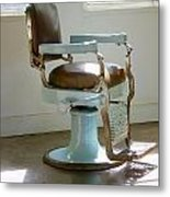Antique Barber Chair Metal Print