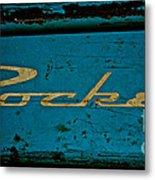 Antique Blue Wagon Metal Print