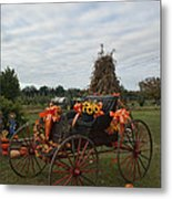 Antique Buggy In Fall Colors Metal Print
