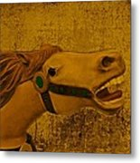 Antique Carousel Appaloosa Horse Metal Print