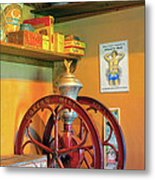 Antique Coffee Mill Metal Print